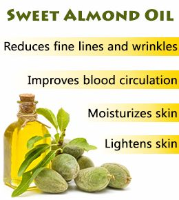 Using almond oil to diminish dark under eye circles.  I'm trying it tonight!