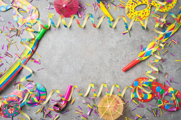 Carnival or birthday party background stock photo