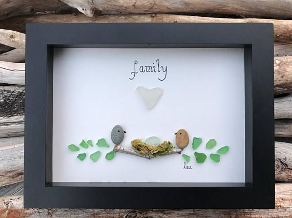 Sea Glass Art Driftwood Art Home Decor Nova Scotia