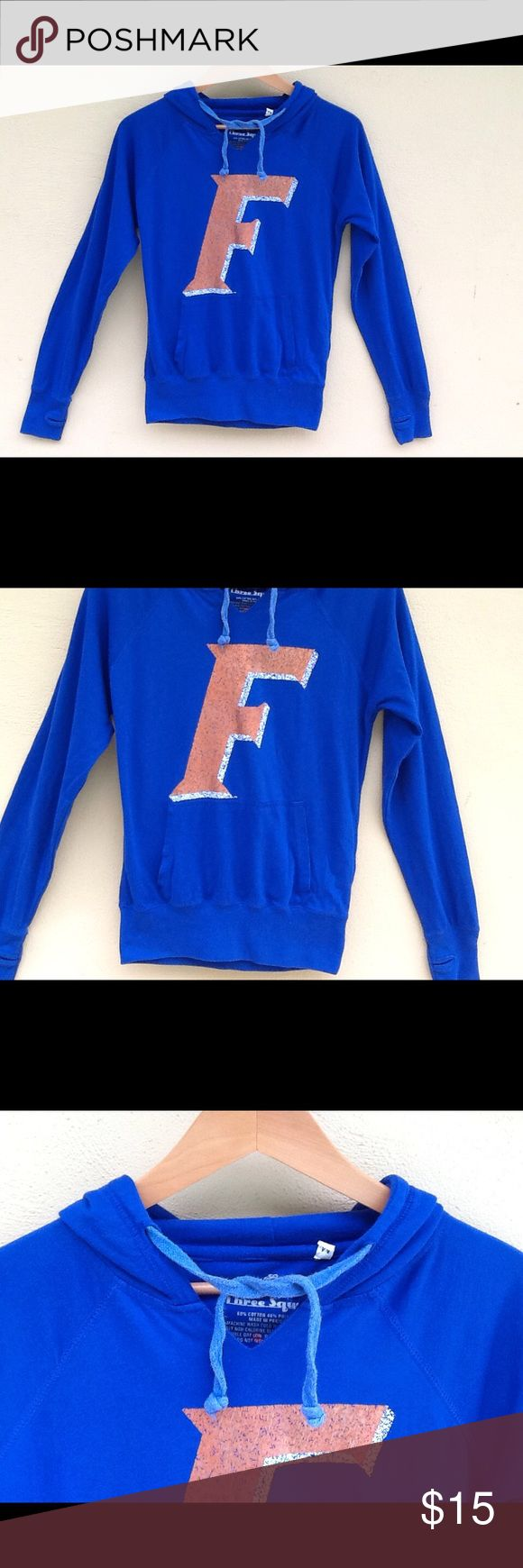 Florida Gators Hoodie Go Gators... Hoodie with kangaroo pockets. Size M on tag. Chest is about 39.  Cotton and polyester. Tops Sweatshirts & Hoodies