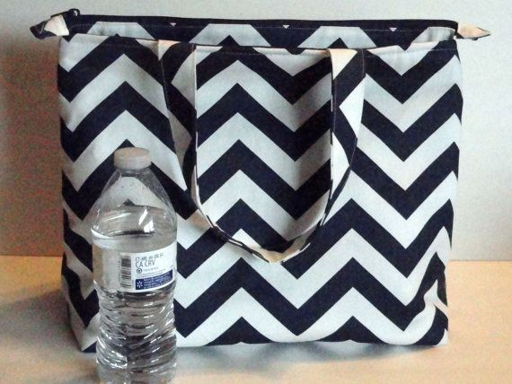 Mega Large Lunch Bag Insulated Womens Lunch Bag by SewProDesigns