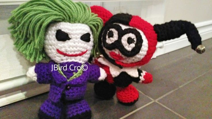 Joker and Harley (7.5 inch crochet)