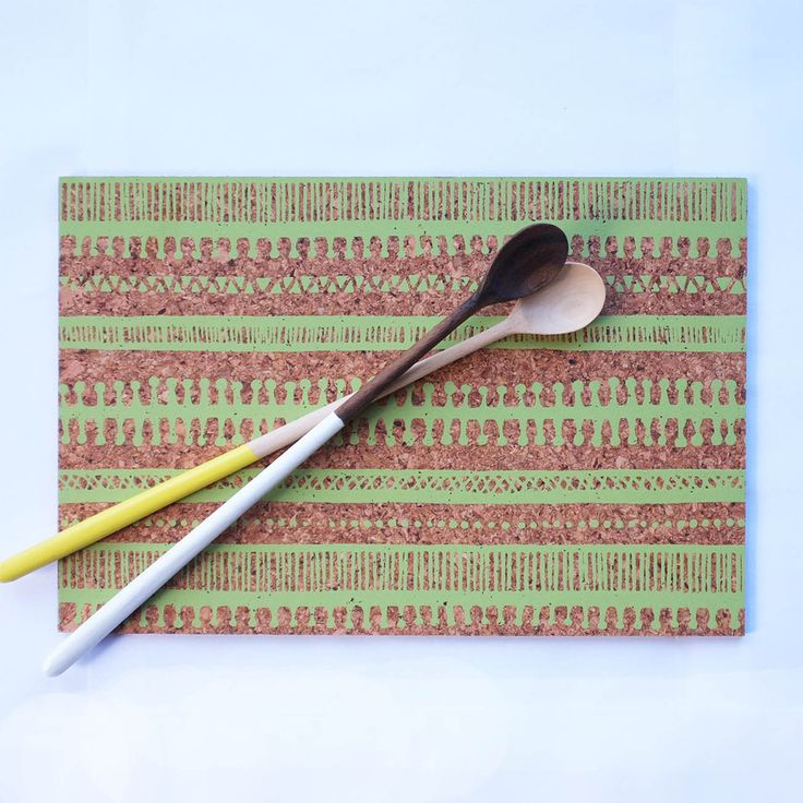 Cork Place mats. 'Trail' Available at www.courtneyclaire.bigcartel.com