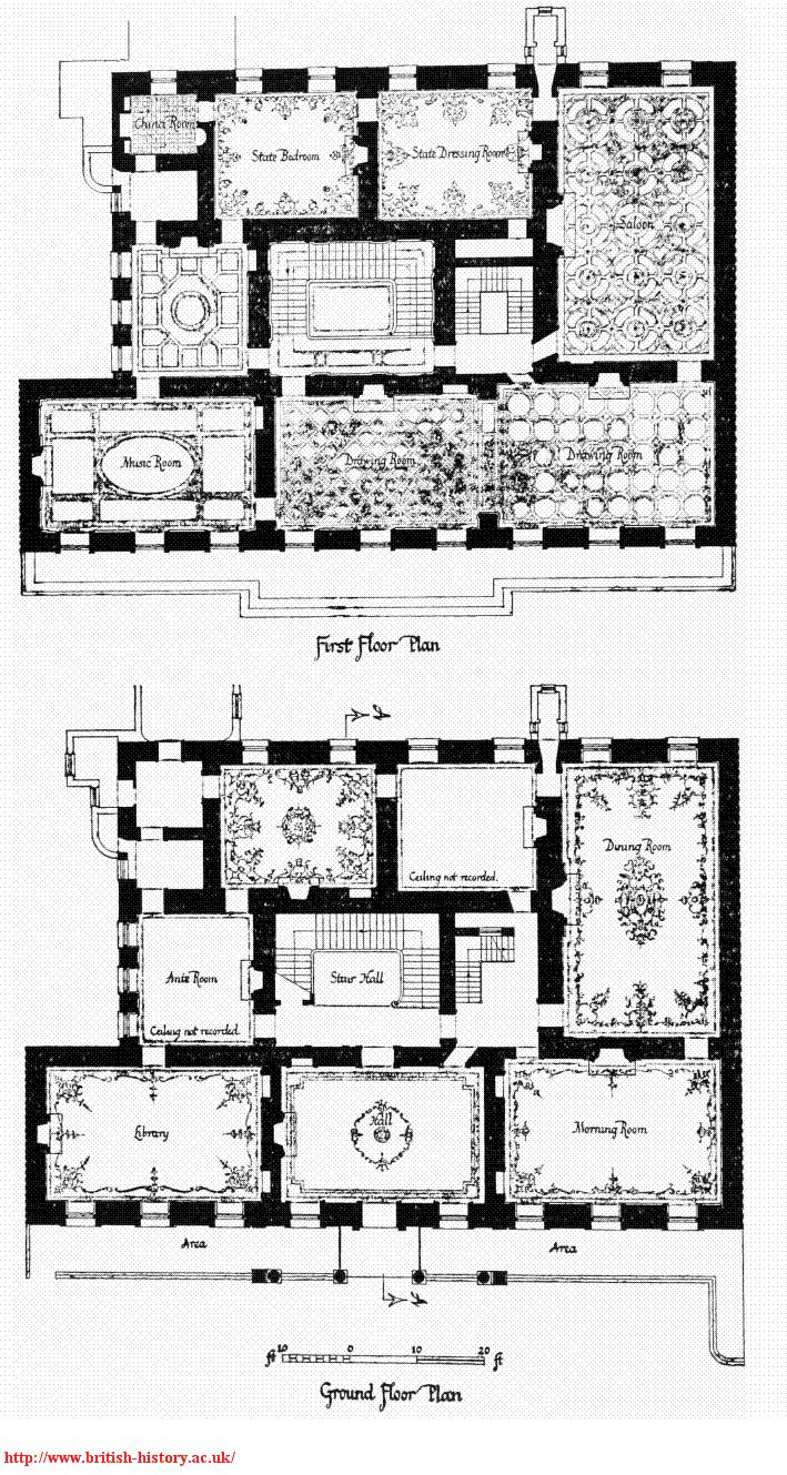652 best grand exteriors interiors images on pinterest norfolk house london ground and first floor plans showing ceiling plans and two ground floor rooms combined