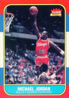 Michael Jordan 1986 Fleer Rookie Card