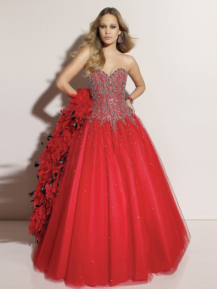 Luxurious Tulle Ball Gown Style Strapless Sweetheart Sequined Bodice Quinceanera Dress