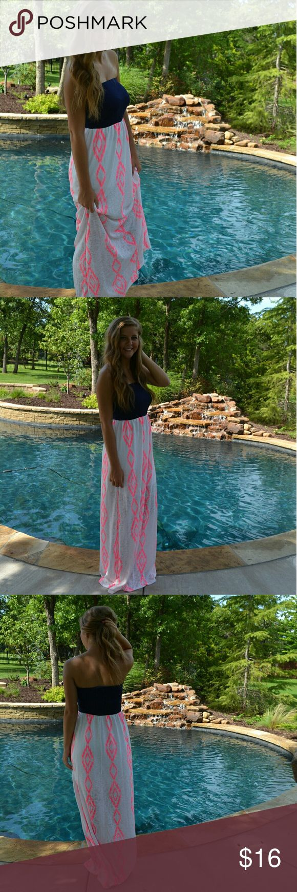 Neon Aztec Summer Dress Gorgeous print and gorgeous material. You cannot go wrong with adding this dress to your summer wardrobe. Fits true to size. Brand new. Dresses