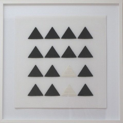 BLACK & WHITE TRIANGLES (Large 73cm x 73cm) www.janedenton.co.nz