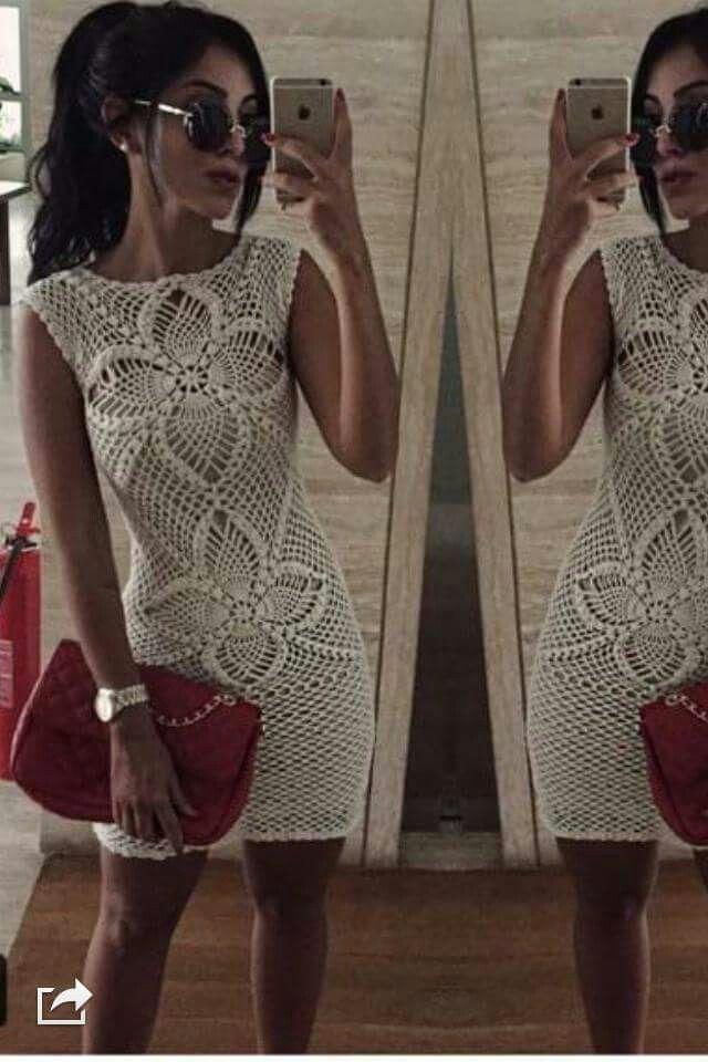 crochet dress вязание крючком платье