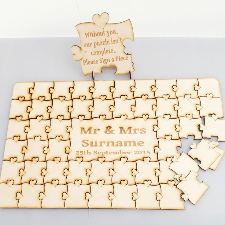 25 best ideas about puzzle guest books on pinterest
