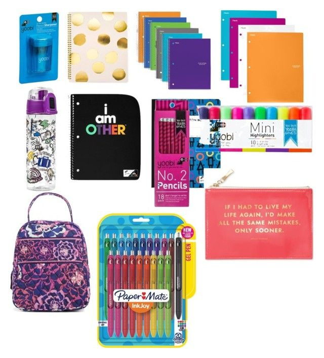 """Back to School Supplies"" by josiasashlee on Polyvore featuring Sugar Paper, Mead, Yoobi, Ziggy, Paper Mate, Vera Bradley and Kate Spade"