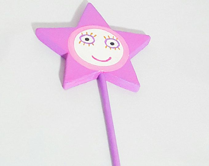 Handpainted Ben and Holly Wand