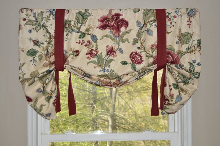 A personal favorite from my Etsy shop https://www.etsy.com/listing/232027266/window-treatment-waverly-valance-floral