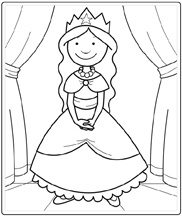 296 Best Images About Thema Prins Ses Ridders Draken Easy Princess Coloring Pages Printable