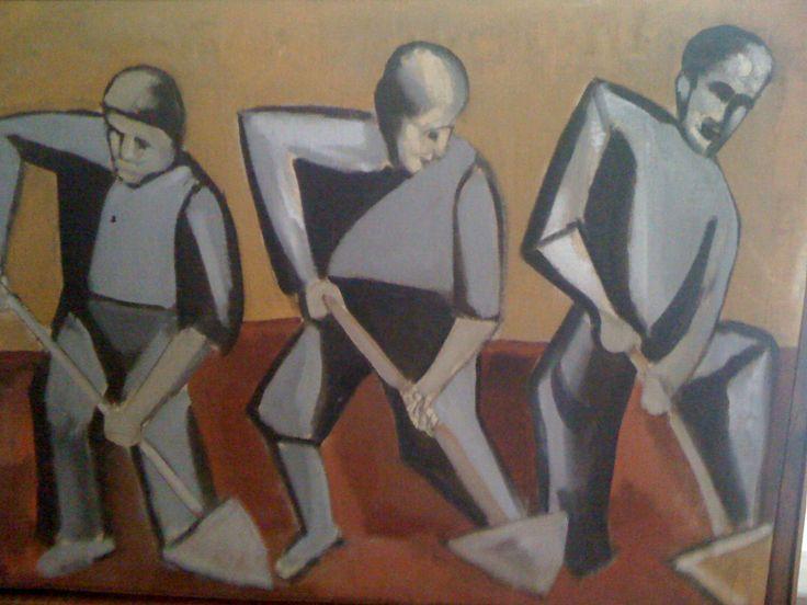 ENRICO ACCATINO artist 1920-2007  anni '40