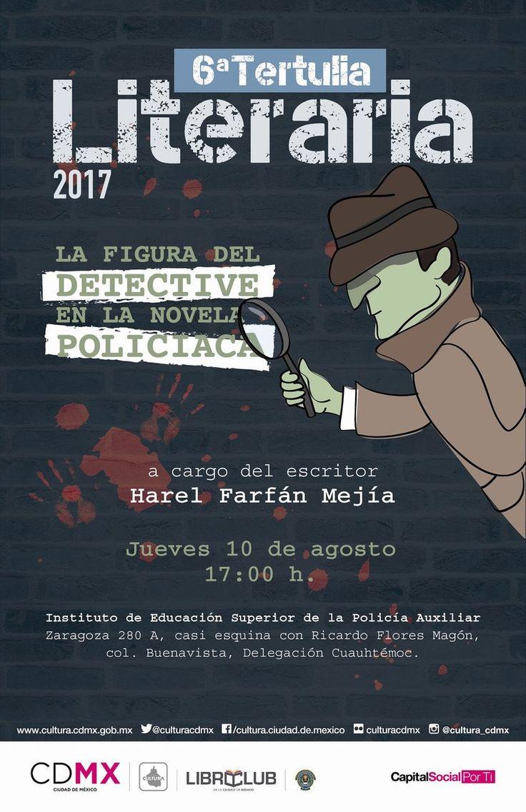 Revelarán en la Sexta Tertulia Literaria las pistas de la figura del detective en la novela policiaca
