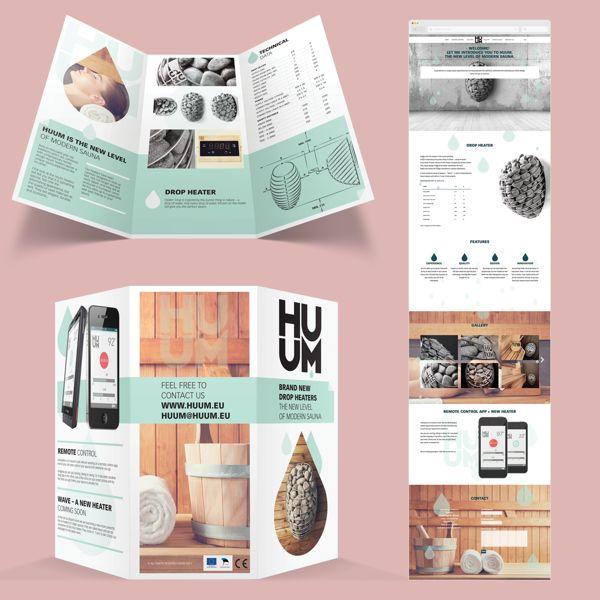 HUUM sauna heaters identity [Golden Egg Bronze 2014] by Helene Vetik, via Behance