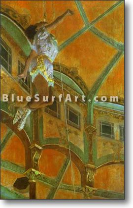 Mlle La La at the Circus Fernando - £124.99 : Canvas Art, Oil Painting Reproduction, Art Commission, Pop Art, Canvas Painting