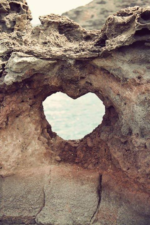 Heart shaped rock on the island of Maui.  If you come out at the right time there will be humpback whales jumping out of the ocean.