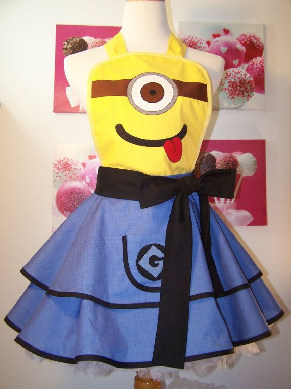 Minion Apron Minion Cosplay by WellLaDiDaAprons on Etsy