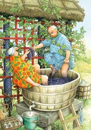 Funny and Happy Old Ladies §§§  Finnish Artist INGE Löök