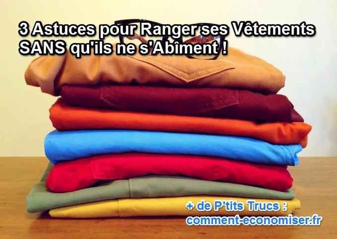 Voici quelques bons gestes à suivre pour garder son linge en bon état.  Découvrez l'astuce ici : http://www.comment-economiser.fr/ranger-vetements.html?utm_content=buffer62cf1&utm_medium=social&utm_source=pinterest.com&utm_campaign=buffer