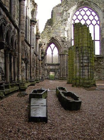 Ruins of Holyrood Abbey, Scotland.