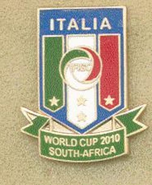 calcio distintivo pin  WORLD CUP 2010 SOUTH AFRICA - ITALY vecchio e smalto