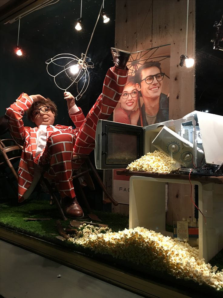"""MORTIMER HIRST EYEWEAR, High Street, Auckland-CBD, New Zealand, """"The popcorn button on the microwave is a miraculous invention. More miraculous than even the microwave itself"""", for Face to Face Eyewear, creative by Ton van der Veer"""
