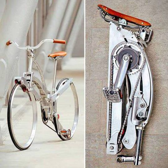 Spokeless Fold-Up Bicycle