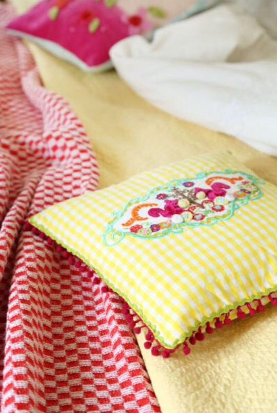 "This fresh pillow is from our feature ""Happy Homemaker"""