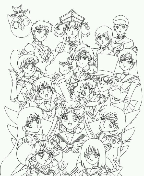 sailor moon coloring pages saturn - photo#36