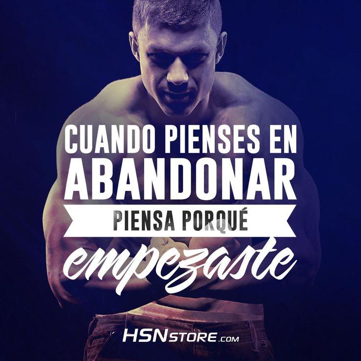 Cuando pienses en abandonar piensa porque empezaste #fitness #motivation…                                                                                                                                                                                 Más