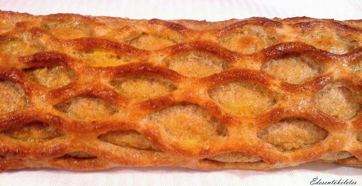 rácsos túrós süti