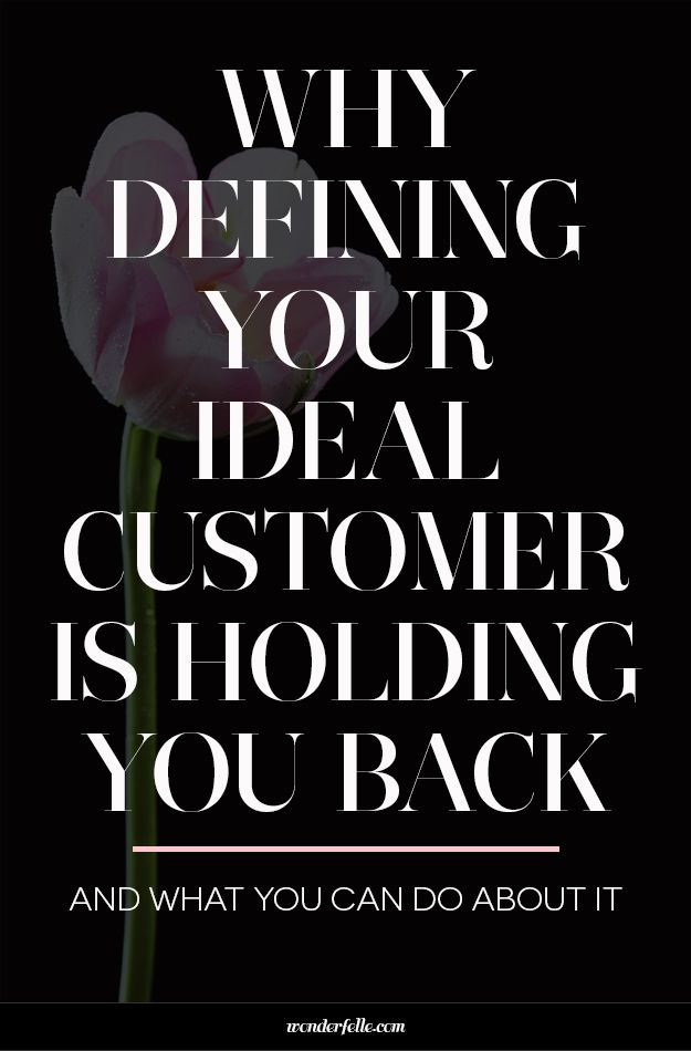 Why defining your ideal customer is holding you back and what to do about it. For entrepreneurs and small business owners who struggle with defining their ideal customer avatar - this is for you.