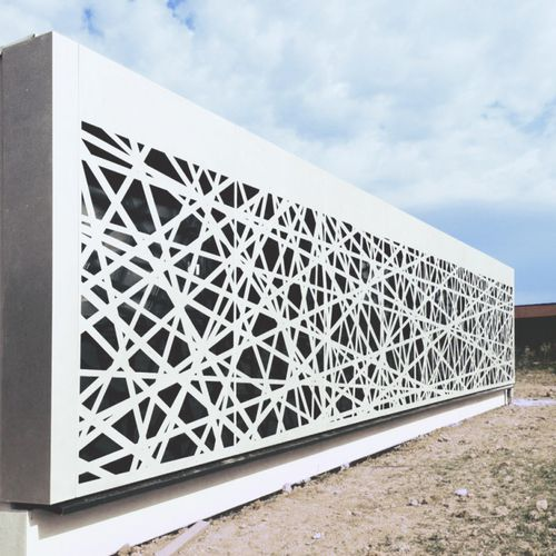 Brise-soleil en métal / pour façade / perforé CALVISSON - HABILIS HABITAT FRANCE RESILLE