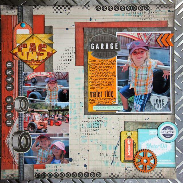 Kaisercraft 'Boy' layout - by Sarah
