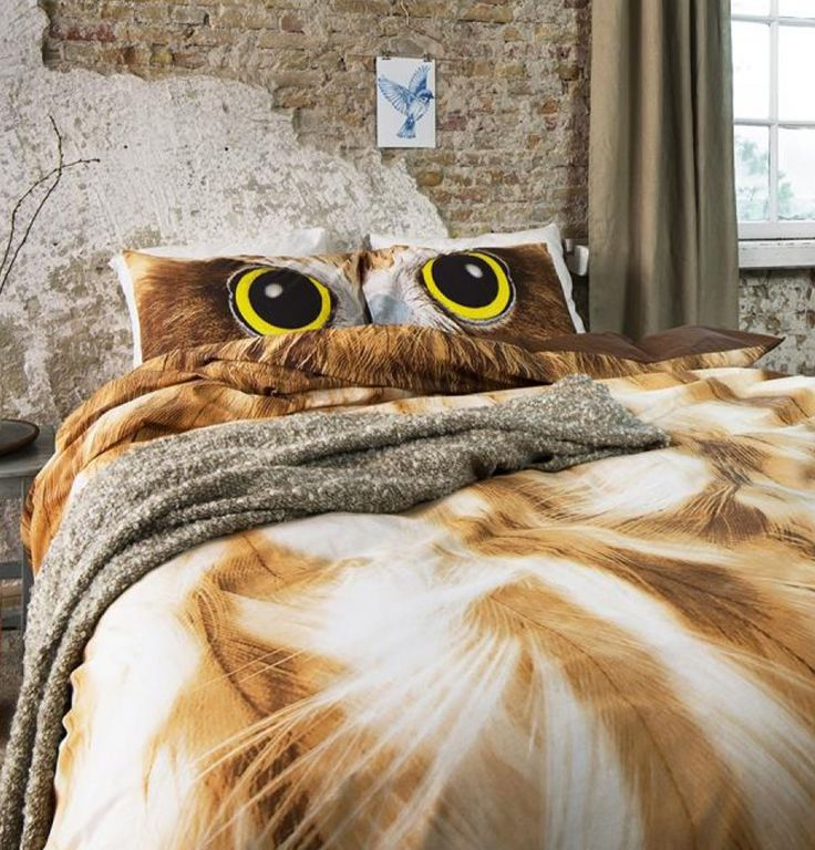 SET DREAM HOUSE BEDDING OWL LOOK TAUPE HUSA PILOTA | Pentru acasa