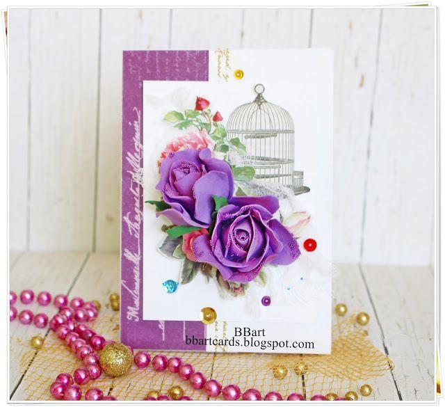 TWÓRCZY POKOIK by BBart: Purple card - DT 14 Craft Bar