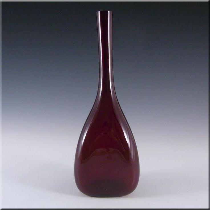 Elme Scandinavian Ruby Red Glass 'Three Sided' Vase - £20.00