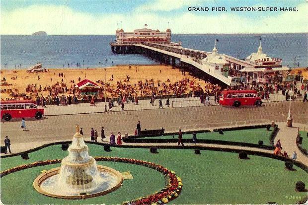 Old Postcard, Weston-super-Mare, Grand Pier