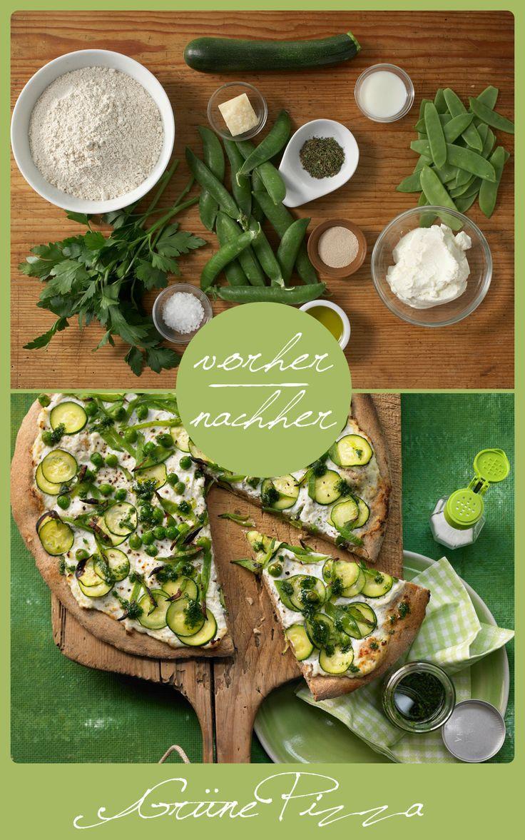 Pizza geht auch grün und gesund. Diese ist der beste Beweis. http://eatsmarter.de/rezepte/gruene-pizza
