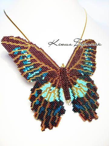 bead weaving vlinder peyote steek