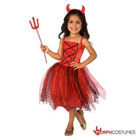 Girls Light Up Red Devil Satan Fancy Dress Costume  10  12 Years   Girls Light Up Costume  Have some fun and buy this Red Devil Costume its going to make sure that youre the most fun at your next party! Turn out to be into the character you ought to be with this Satan Light Up Costume! Wearing this improbable Light Up Red Devil Costume theyre going to feel able to party very quickly.  Satan Costume Includes  Costume Incorporates dress horn headband pitchfork  Morph Costumes  The Company at…
