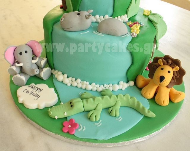 Jungle cake 3 copy by Party Cakes By Samantha, via Flickr
