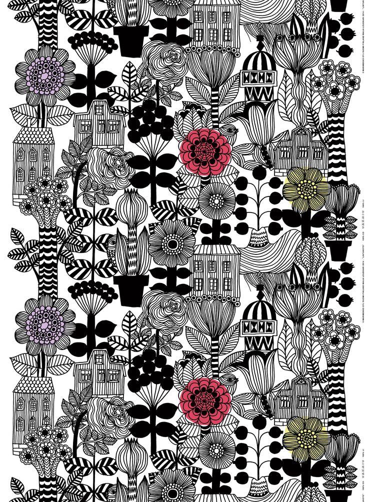 Lintukoto HW cotton fabric by Marimekko