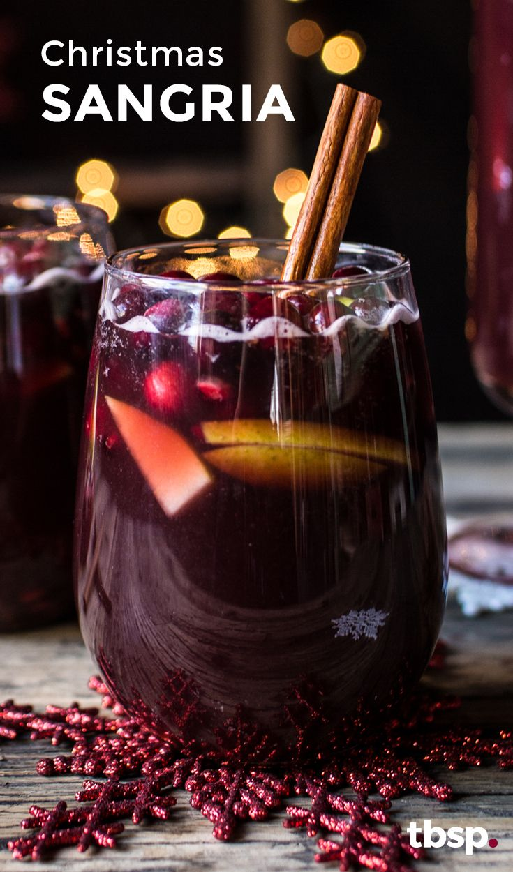 Make this easy sangria for your holiday party—it's easy and festive!