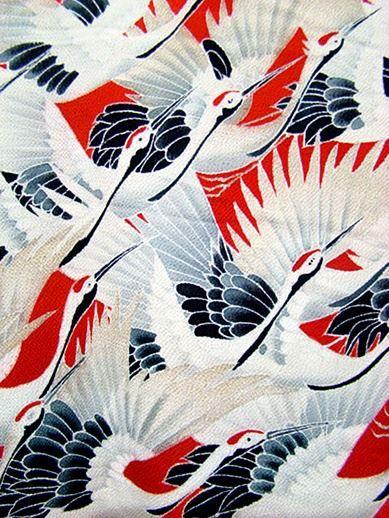Tejido de kimono. Japón.