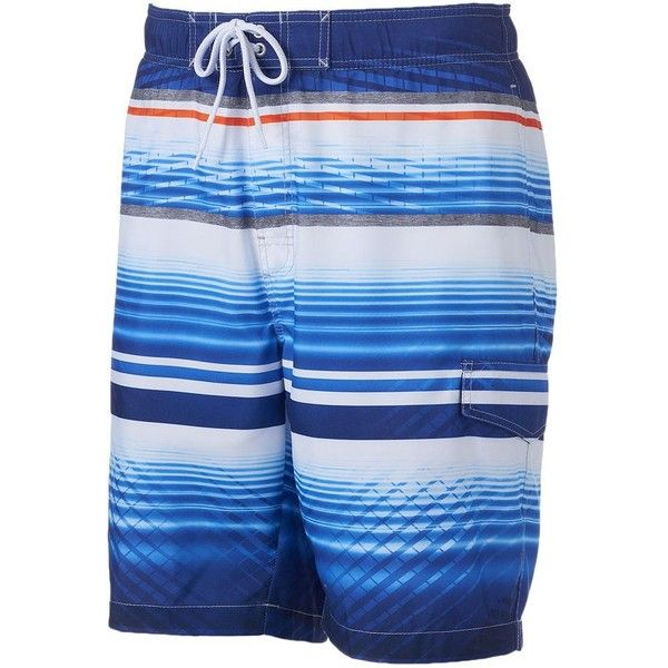 Big & Tall SONOMA Goods for Life™ Water Line Striped Microfiber Swim... ($19) ❤ liked on Polyvore featuring men's fashion, men's clothing, men's swimwear, swimwear, med blue, mens swimwear, mens big and tall swimwear, men's apparel, mens swimshorts and mens clothing