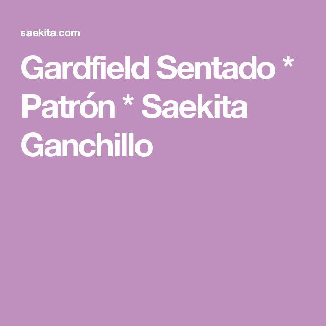 Gardfield Sentado * Patrón * Saekita Ganchillo